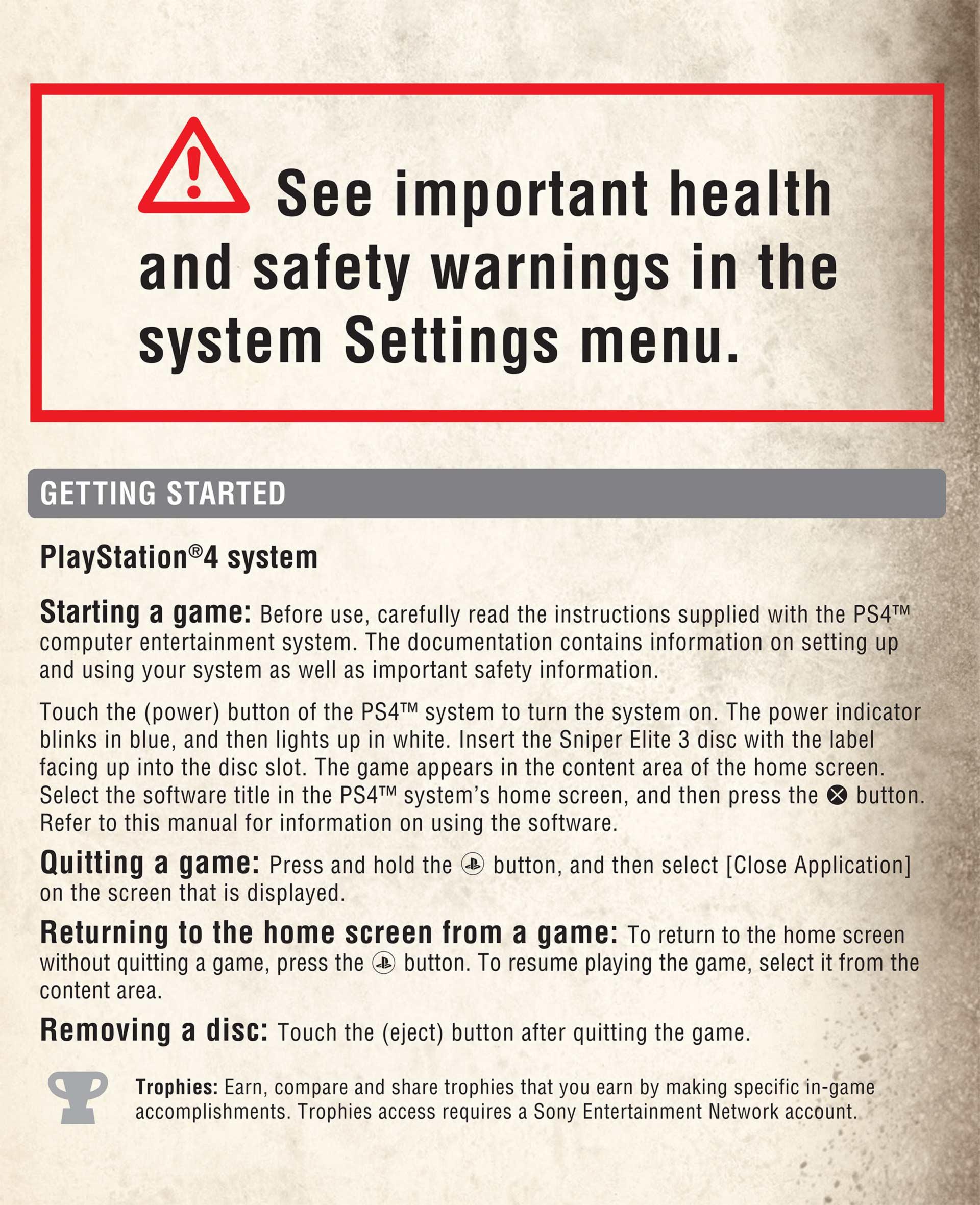 Sniper Elite 3 Help Manual